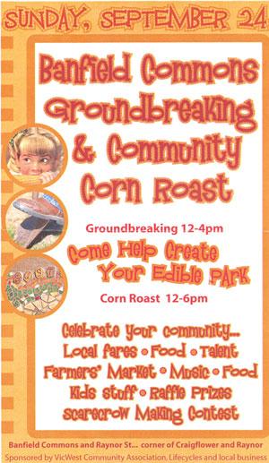 2006 corn roast poster