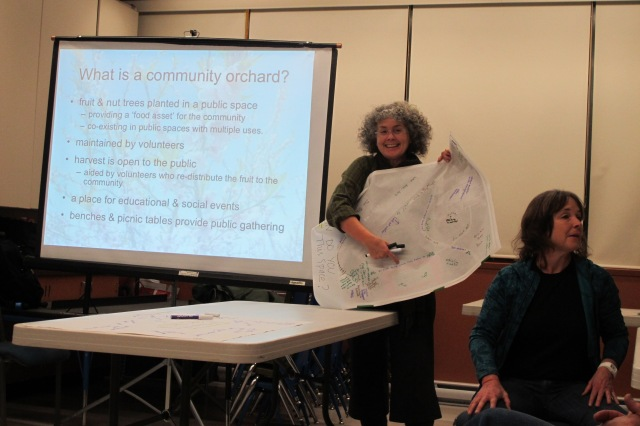 Patti and Jane at Community Orchard Planning Meeting