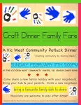 Craft Dinner Family Fare Community Potluck