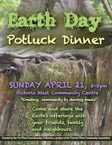 VWCA community potluck dinner poster